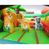 Cheap 0.55mm PVC Tarpaulin Inflatable Bouncer Slide / Awesome Monkey Bouncy Castle wholesale