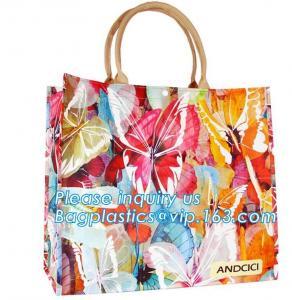 Quality Pvc Travel Biodegradable Shopping Bags Drawstring Handle Handy Women Shopper for sale