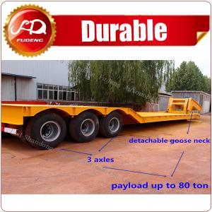 Cheap Hydraulic Detachable Gooseneck 3 Axles Low loader Semi Trailer for sale wholesale