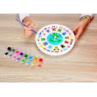 "Cheap DIY Painting Battery Powered 9 "" Wall Clock Art And Craft Kits For Children wholesale"