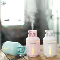 China Creative Four In One USB Gas Tank Humidifier Mini Mute Moisturizing Night Light Aromatherapy Machine Office Desktop on sale