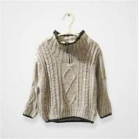 Cheap Cool high collar knitted kids pullover sweater,woolen children sweater wholesale