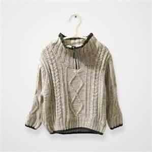 Cheap Cool high collar knitted kids pullover sweater,woolen children sweater wholesale