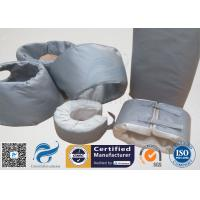 High Temperature Grey Silicone Fiberglass Removable Thermal Insulation Covers ,