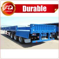 Cheap 40ft 60 ton Tri-axle Semi Sidewall Flatbed Trailer , Flatbed Trailer with Side Wall detachable wholesale