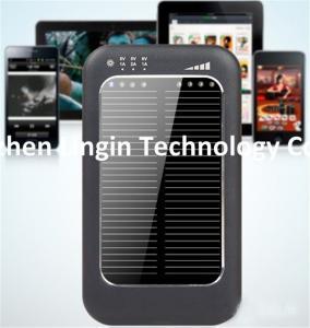 Cheap 5000 mAh Dual port usb portable solar energy power bank charger Solar Charger wholesale