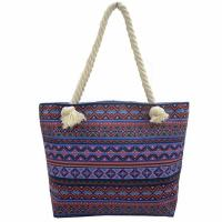 Cheap Bohemian Wind Custom Shoulder Bags , Cotton Handles Tote Bags wholesale