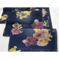 """Cheap High quality wholesale 62/63"""" flowers printed cotton polyester denim fabric wholesale"""