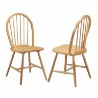 Cheap Country Wooden Dining Room Chairs Vintage Armless Simplicity Solid Construction wholesale