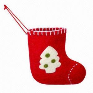 Cheap Wool Christmas Stocking, Small wholesale