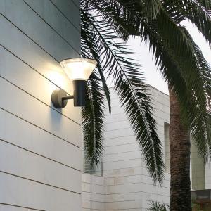 China MIROLAN Rectangule Outdoor Wall Lights,Patio Dark Gray Aluminum Modern LED Wall Lamp IP54 on sale