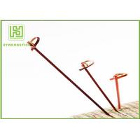 Cheap Red Bamboo BBQ Sticks Knotted Bamboo Skewers For Fruit 70 / 80 / 105 / 120mm wholesale