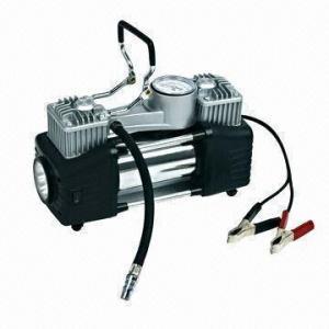 Cheap 13.8V Electric Tire Pump w/ 2x30mm Cylinder, 60L/min Output Volume, 150psi Gauge and 5m PU Air Hose wholesale