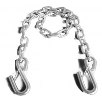 Cheap 3500lbs Iron Safety Trailer Chain,Transport Chain with  S-hooks with latch wholesale
