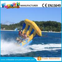 Cheap Digital Printing Inflatable Boat Toys Flying Fish Boat One Years Warranty wholesale