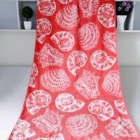 Cheap Seashell Linen Beach Towels / 100% Combed Cotton Bath Towel For Silver Wamsutta wholesale