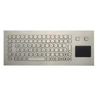 Cheap 85 Keys Washable Ruggedized Keyboard , Stainless Steel Keyboard With Touchpad wholesale