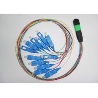 Data transmission PC , UPC MPO Simplex Fiber Optic Patch Cord with SC connector