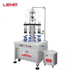 Cheap 30ml 60ml 100ml 80ml 20ml glass bottle rotary 10/8 nozzles automatic spray vacuum perfume filling machine filler wholesale