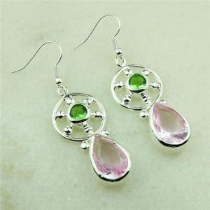 PINK KUNZITE QUARTZ GEMSTONE  925 silver new earrings jewelry Promotions fast