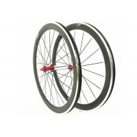 China 20 / 24H 700C Carbon Alloy Wheels 50MM Clincher 23MM Width For Road Bike on sale