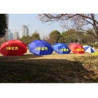 Cheap Polyester Fabric Outdoor Sun Umbrellas Customized Logo For Commercial Street wholesale