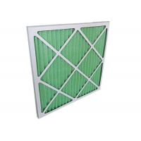 China Low Resistance Pleated Panel Air Conditioner Air Filters HVAC For Primary Filtration on sale