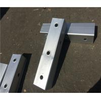 Cheap Hot Dip Galvanized Metal Fence Accessories Safety Steel Square Sign Posts wholesale