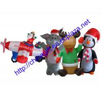 8 Airblown Inflatable Santa Penguin Coffee Shop Igloo: Christmas Inflatable Penguin, Elephant,Santa Claus In