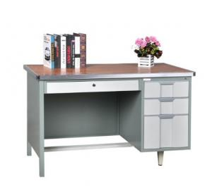 Cheap 3 Drawer Office Teacher Steel Computer Table Metal School Office Room Reading Table wholesale