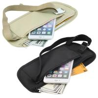Cheap Double Zippered Pockets Travel Fanny Pack With Adjustable Strap Nylon Belt wholesale
