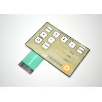 Cheap Push Button Metal Dome Membrane Switch Embossed And Tactile 80*80mm wholesale