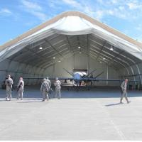 Cheap Laminate Vinyl Curved Tent Rotproof Span Size 20m Military Use wholesale