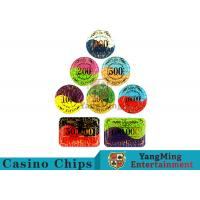 Cheap Security Promotional Casino Poker Chips With Smooth And Delicate Texture wholesale
