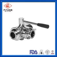 Cheap Sanitary Stainless Steel 304  T-Port Ball  Valve With  Clamped Connection wholesale