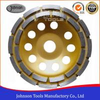 Cheap Professional 105-180mm Double Row Diamond Cup Wheel Long Grinding Life wholesale