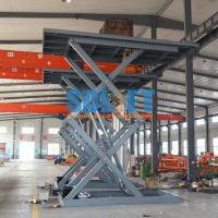 Buy cheap 3 Ton 5M Hydraulic Scissor Car Lift Underground Car Parking Lift With CE from wholesalers