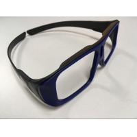 Buy cheap Unfolded Big Frame Passive IMAX System Linear Polarized Glasses Black Blue Color from wholesalers