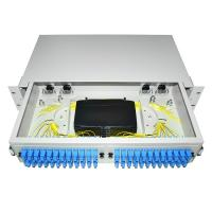 Cheap Dustproof LC SC 19' Rack Mount Fiber Terminal Box Enclosure Fiber Distribution Patch Panel wholesale