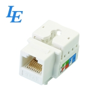 China CAT 5E CAT 6 UTP 90 110 IDC RJ45 Network Keystone Jack on sale