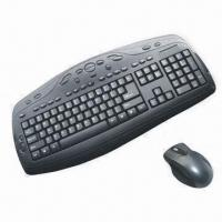 Cheap Wireless Desktop Keyboard/Optical Mouse with 2.4GHz RF Technology and Automatic Sleep Mode wholesale
