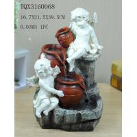 Cheap Angel Hand Painting Polyresin Water Fountain Landscape Electricity Power wholesale