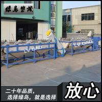 Cheap 6000mm Plastic Washing Line Custom Voltage With 22kw Spiral Conveyor wholesale