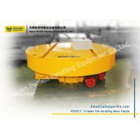 Rail Material Handling Turntable Cable Powered For Mud Slag Car Transportation