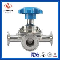 Cheap Low Pressure Hygienic Diaphragm Valve With Three Way Actuator Clamp wholesale