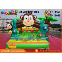 Cheap Double Stitching Monkey Jungle  Commercial Bouncy Castles / Kids Inflatable Jumper wholesale