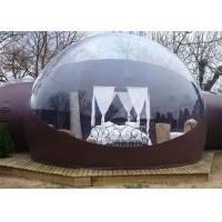Buy cheap Clear Inflatable Bubble Tent with Two Room One Tunnel from wholesalers