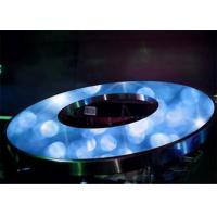 Cheap Round Circle LED Display Full Color , Weather Proof LED Stage Backdrop Screen wholesale