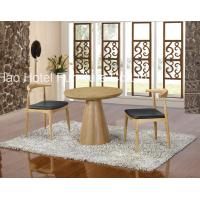 China Round Restaurant Hotel Dining Table Set Custom Made With Nature Wood on sale