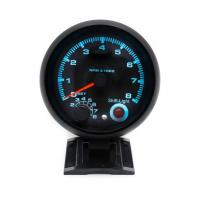 China 3.75 inch Car Tachometer With 7 Colors Led 0-8000RPM Black Case and Rim Rpm Meter Gauge Car Meter on sale